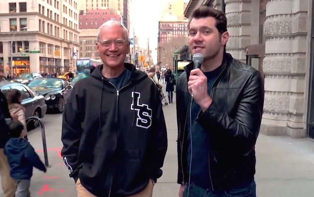 David Letterman and Billy Eichner force random people to give Dave post-Late Show career advice.