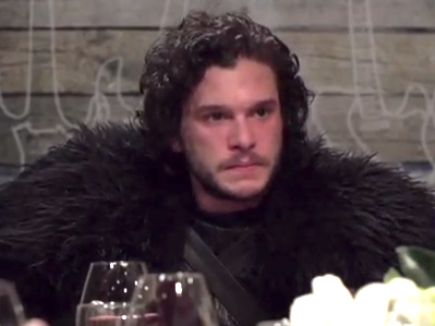 Seth Meyers invited Jon Snow to dinner and it did not go well.