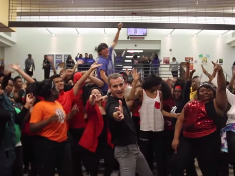 Teacher helps an entire school overcome their fear of making awesome dance videos.