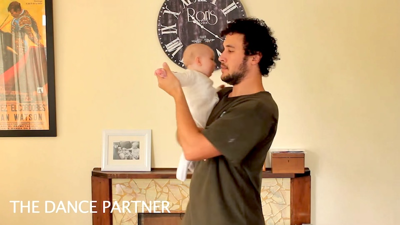 Dad's adorable viral video shows all the ways you can hold a baby.