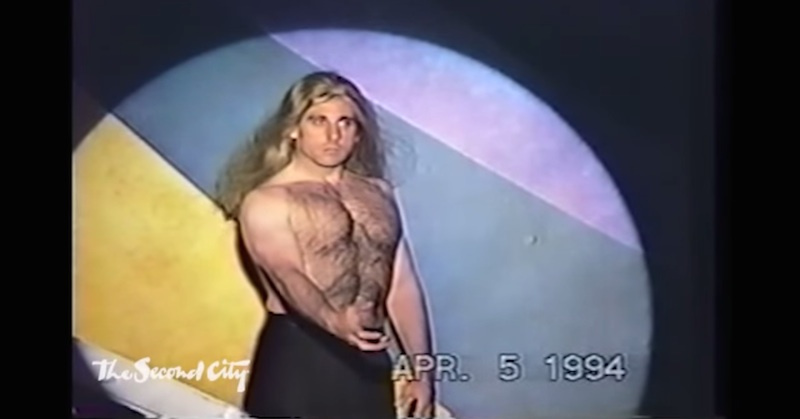 It's 1994: Steve Carell plays Fabio's body, Stephen Colbert provides the voice.