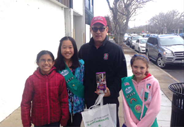 Tom Hanks helps Girl Scouts sell cookies, is now officially too good to be true.
