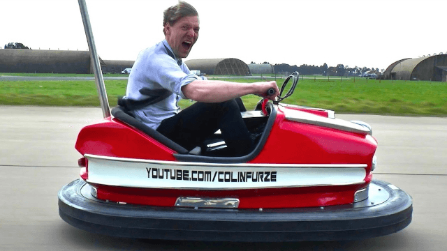 Somebody created a 100-mph bumper car so you can really get your aggression out.