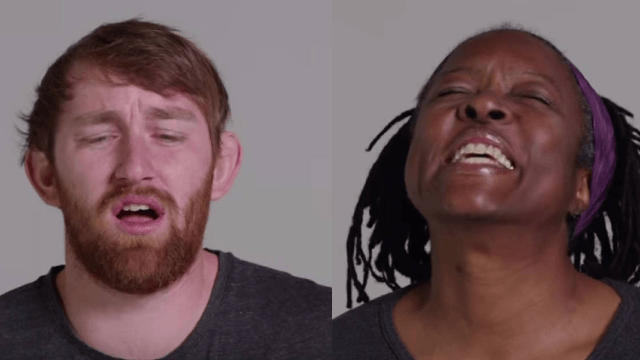100 people show off their 'O-face' in the awkwardest YouTube video ever created.