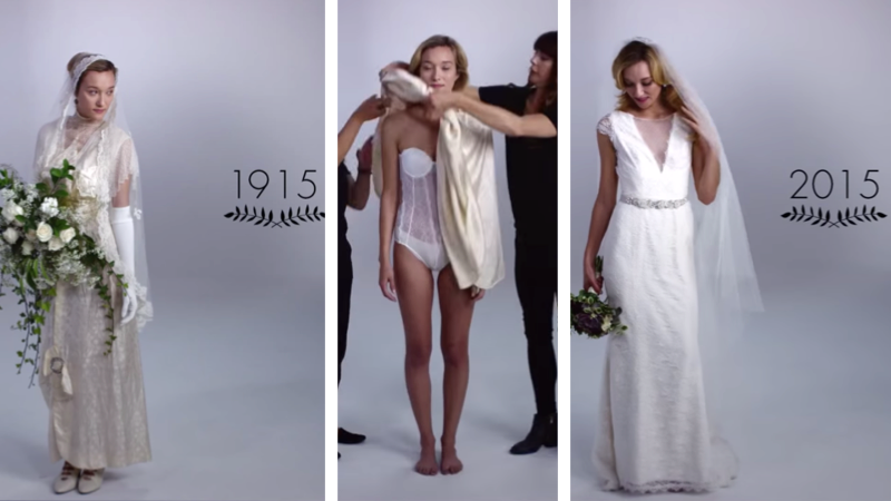 """""""100 Years of Bridal Gown Style"""" will make you want a wedding dress even if you hate marriage."""