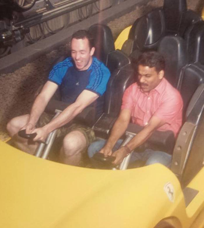 This guy who took his taxi driver to his first theme park wants you to know he's a nice person.