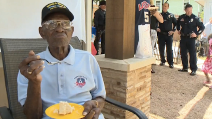 America's oldest living veteran just turned 109 and his birthday theme was amazing.