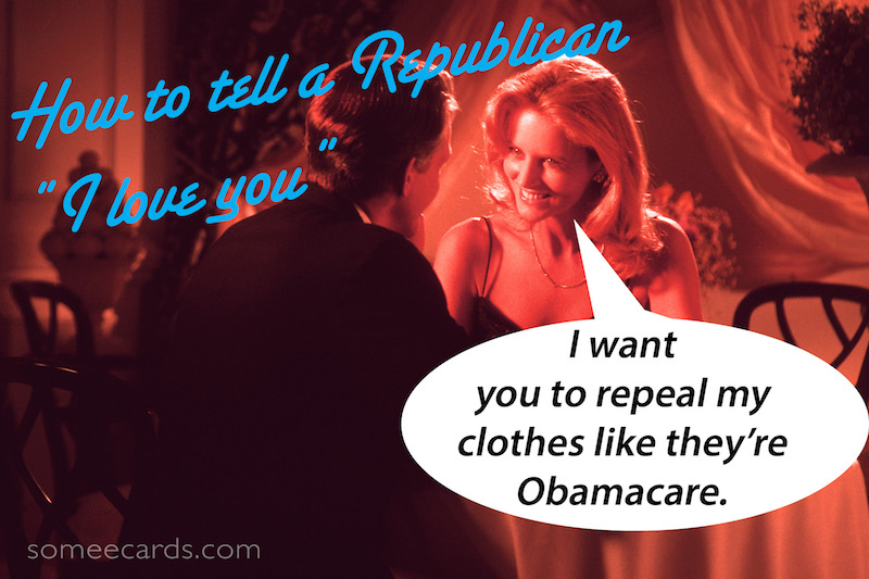 14 ways to tell someone from the opposite political party how you feel on Valentine's Day.
