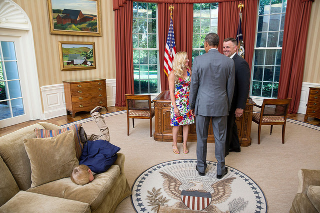 President Obama had the perfect reaction to a little girl throwing a tantrum in the White House.