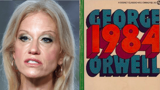 '1984' sales soared after Kellyanne Conway talked about 'alternative facts.'