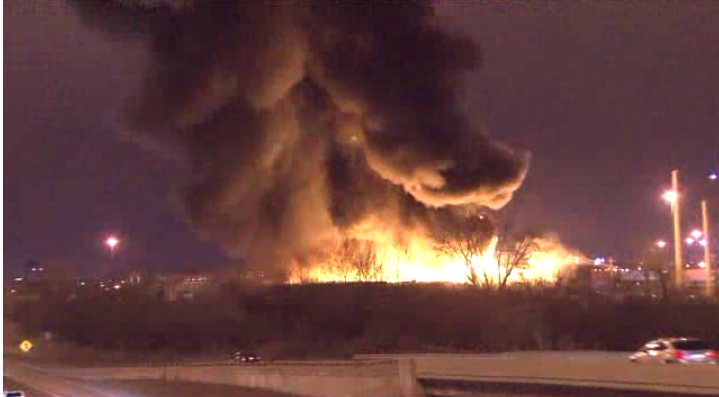 A fire extinguisher factory just burned down in a massive fire.