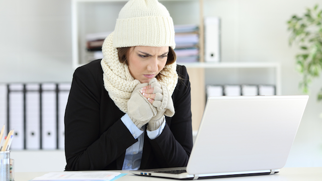 Image result for womens work in cold office
