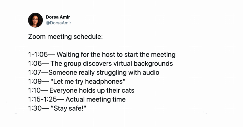 21 of the funniest tweets about Zoom meetings that did not go well.