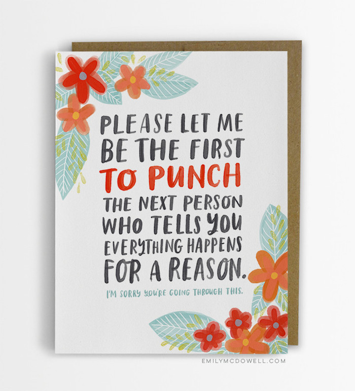 a woman made up empathy cards she wished she d received from people
