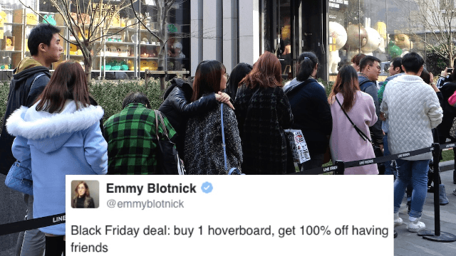 The 27 funniest tweets about Black Friday deals and general insanity.