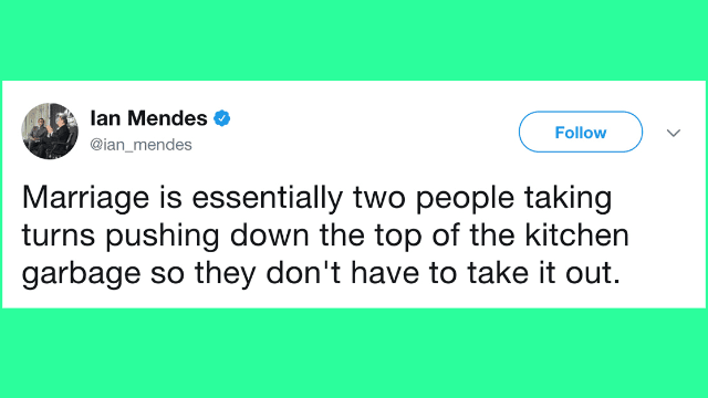 31 Tweets About Marriage For Anyone Who's Ever Considered Tying The Knot.