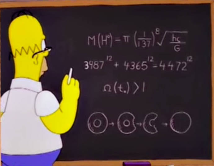 Homer Simpson accidentally discovered important information about the Higgs boson particle back in 1998.
