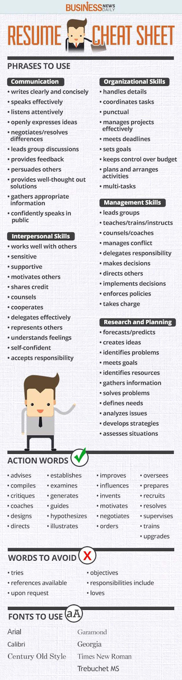 these are all the words you should use on a resumé to make your