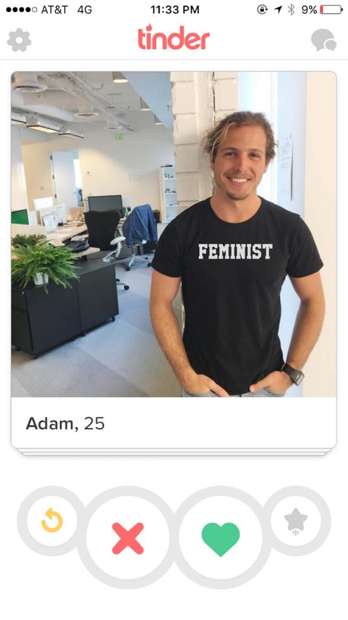 A woman is mocking all the men who call themselves 'feminists' on Tinder, because they make it so easy.