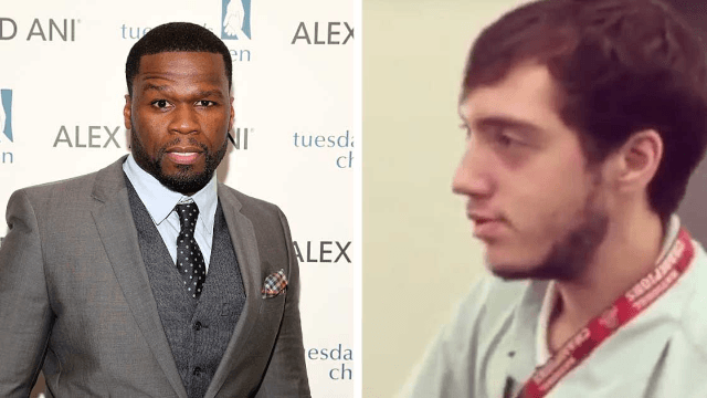 50 Cent diagnosed an airport employee as high. The Internet diagnosed 50 Cent as an a-hole.