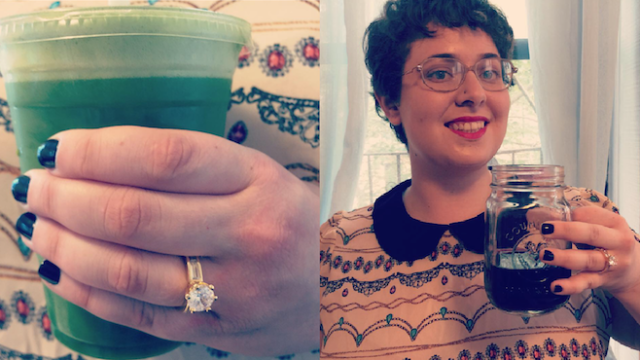 6 ways to call attention to your engagement ring in an Instagram photo so it looks accidental.