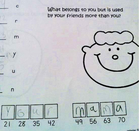 10 kids who deserve extra credit for their smart-ass homework answers.