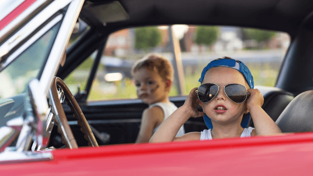 8-year-old learns to drive from YouTube, goes on adorable joy ride.