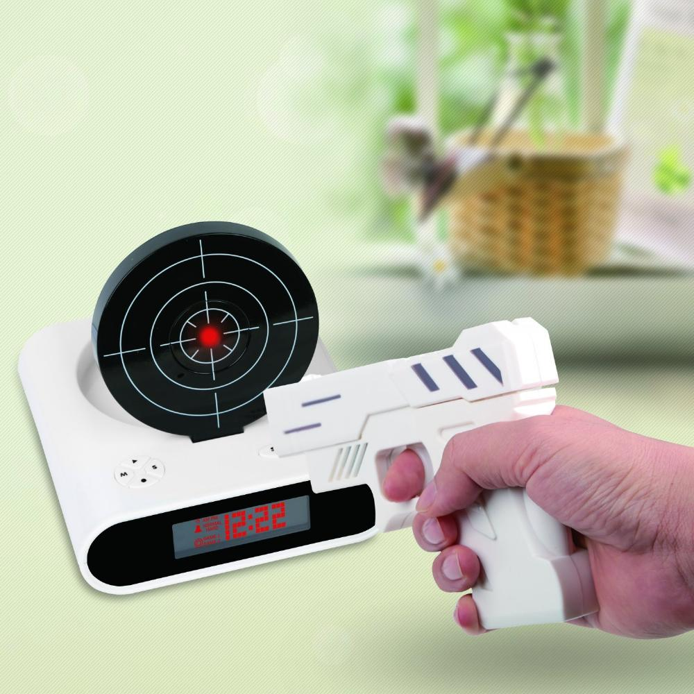 Gun Alarm Clock Target Wake Up Shooting Game Toy Novelty: 23 Alarm Clocks For People Who Need To Grow Up And Stop