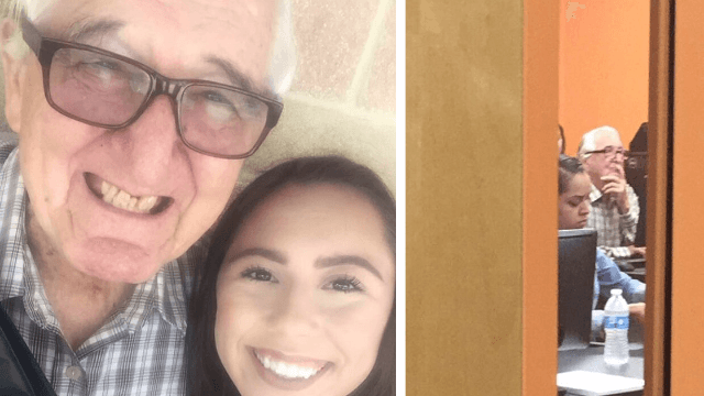 This 18-year-old Texas girl and her 82-year-old grandpa are off to college as classmates.