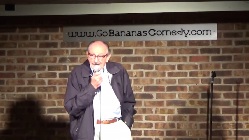 Watch an 89-year-old man try stand-up for the first time with an adorably inappropriate act.