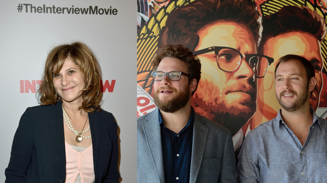 Seth Rogen already ruined Amy Pascal's demotion by making her office reek of weed.