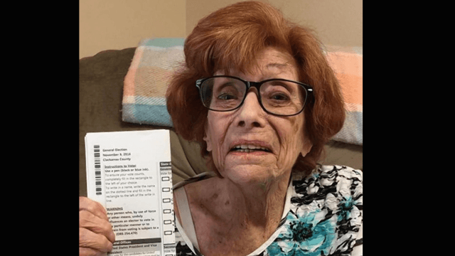 90-year-old woman votes for HRC, dies a few days later. Probably coincidental.