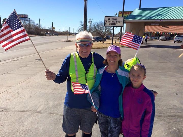A 91-year-old man is running across America and you can support him.
