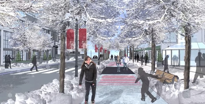 Check out this city's awesome plan to create an ice-skating route to work.