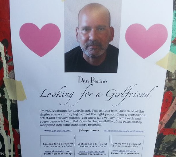 """Apparently, these """"Looking for a Girlfriend"""" flyers got this schlub at least 118 of them."""