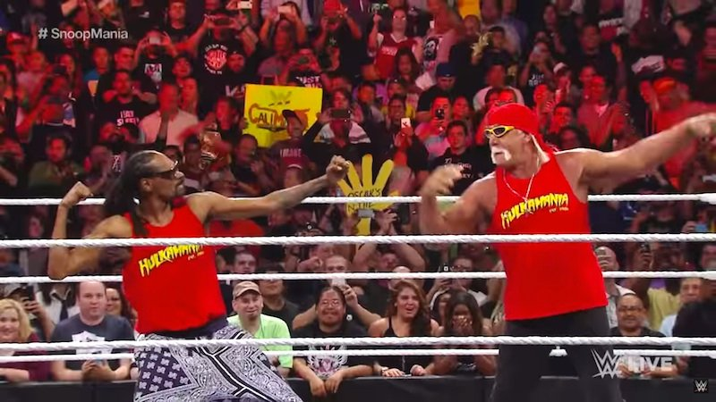 Snoop Dogg and Hulk Hogan team up for the most manic Wrestlemania tag team of all time: Snulkmania.