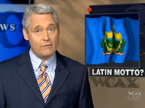 Bigoted idiots who hate Latinos freak out over Vermont's proposed new Latin motto.
