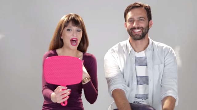 A bunch of women let their boyfriends pick their makeup, and the results were very bright.