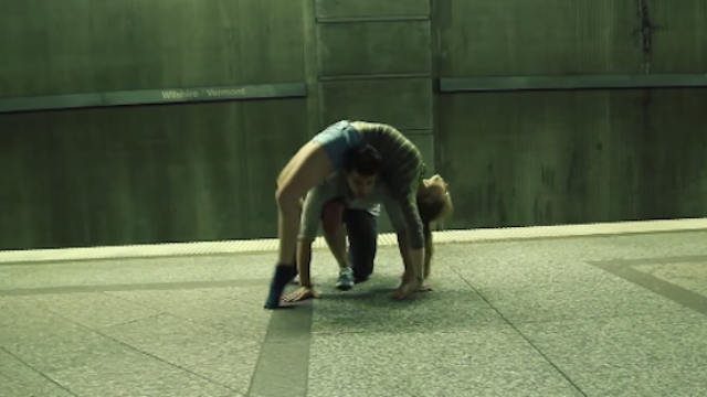 Couple's subway platform dance routine will make you feel inspired, horny, amazed.