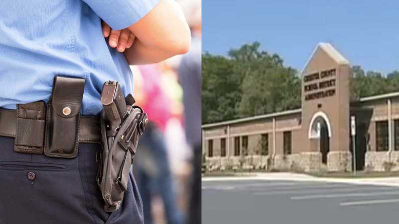 A fifth-grader grabbed a school security guard's gun, because having armed guards in school is dumb.
