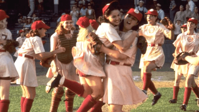 The 'A League of Their Own' cast didn't just reunite. They reunited and played baseball.