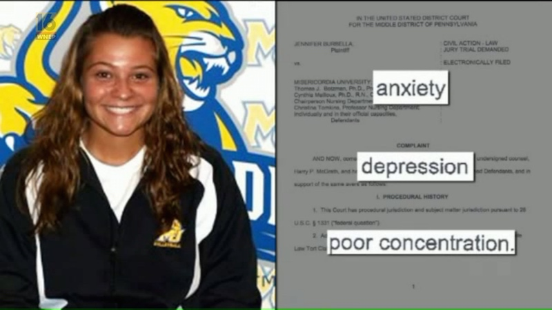 A nursing student is suing her school for failing her, but it's more complicated than that.