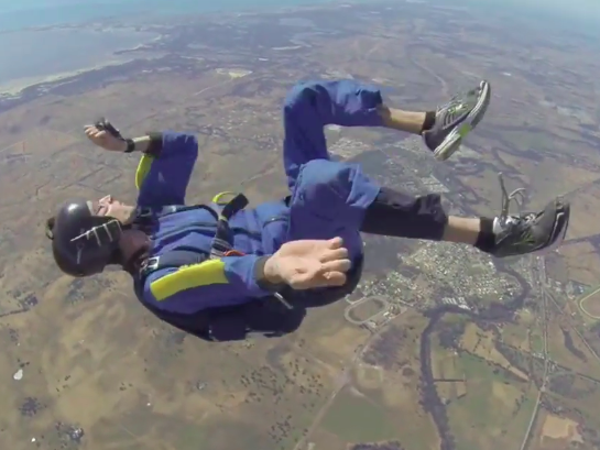 A skydiver had a seizure at 9,000 feet and miraculously survived.