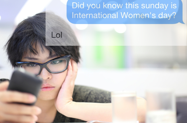 A woman asked a bunch of guys on Tinder if they knew it was International Women's Day.