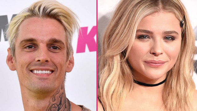 Aaron Carter is begging Chloe Grace Moretz for a date after she joked about her old crush on him.