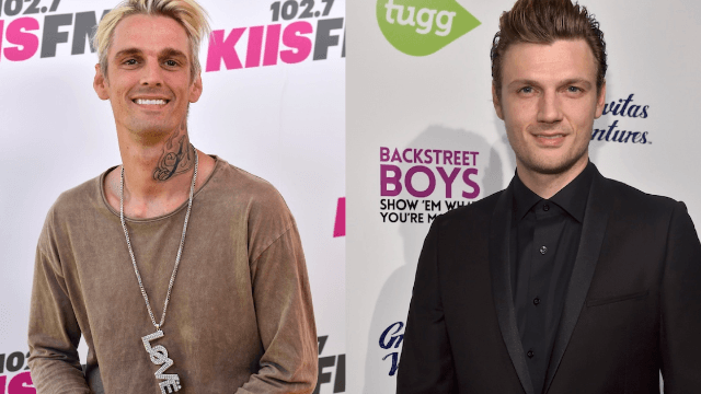 Aaron Carter and his brother Nick are still fighting in public. These two just don't stop.