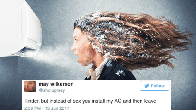 11 times people on Twitter were thirstier for A/C than for sex.