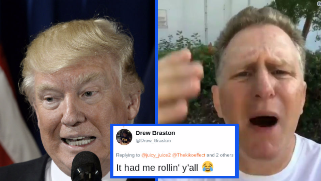Actor calls Trump a 'dumb motherf**ker over NFL comments, Twitter is lol'ing.
