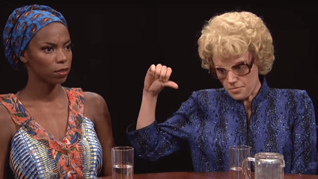 The 'Actress Roundtable' sketch on 'SNL' this weekend is the funniest take on Hollywood sexism.