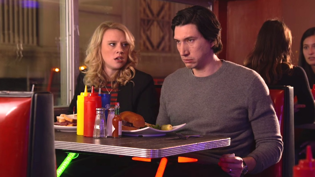 Adam Driver proves he hasn't been consumed by the dark side in his 'SNL' promos.
